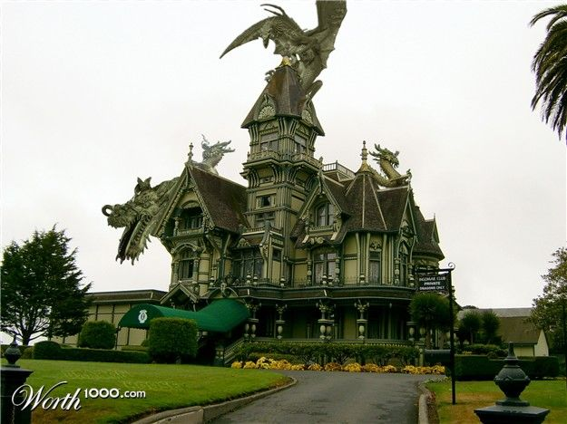 Worth1000 Contests What My Exterior Dream Home Would Look Like Dragon House Witch House Creative Architecture