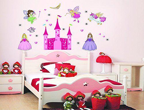 Ufengke castillo de la princesa de dibujos animados for Cuarto unicornio nina