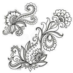 Henna Tattoo Flower TemplateMehndi  Tattoos