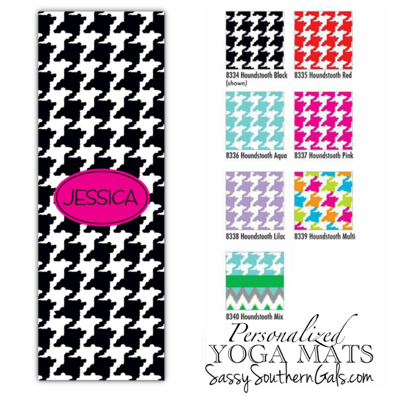 own market design il mat your yoga mats monogrammed etsy