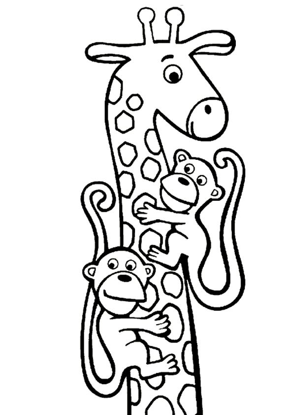 giraffe kleurplaten zoeken