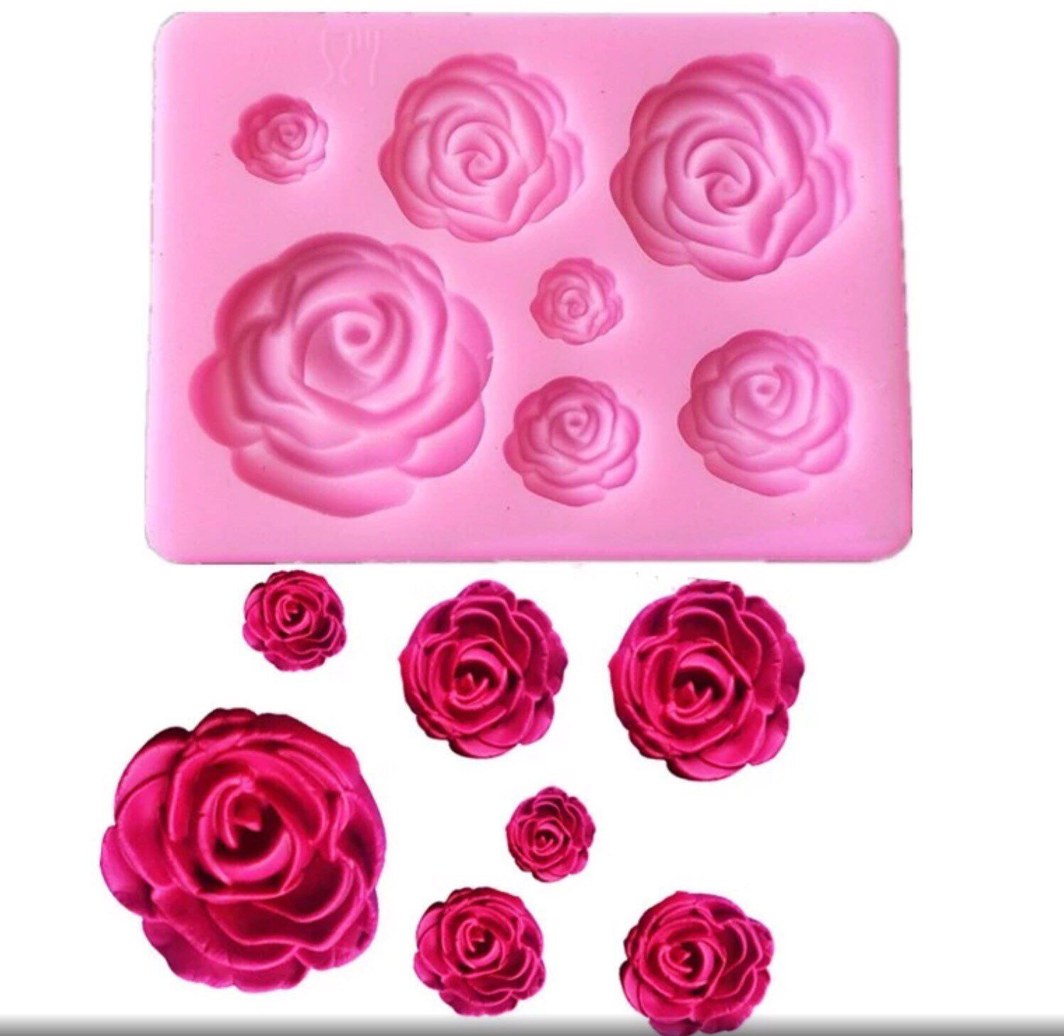 Roses Various Sizes Rose Flower Shaped Silicone Mould Fondant Etsy Silicone Molds Baking Cake Molds Silicone Cake Decorating Tools
