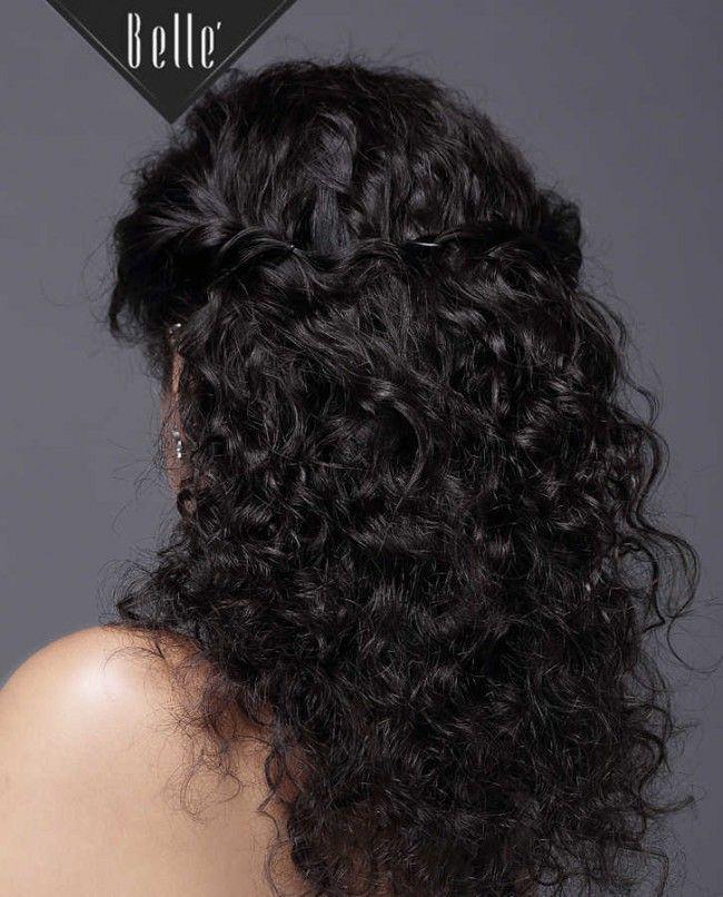 natural shine!  #fulllacewig #curlyhairwig #wigwithbabyhair @www.bellewigs.com