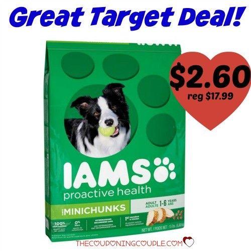 Cheap Iams Dog Food Only 2 60 Reg 17 99 Dog Food Coupons