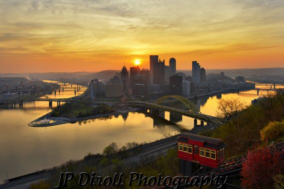 """Dawn of a New Day Pittsburgh Unmatted 12"""" x 18"""" Photograph Print  by JPDirollPhotography, Other photos available."""