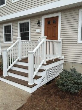 Contour Building Trex Front Stairs Traditional Exterior Exterior
