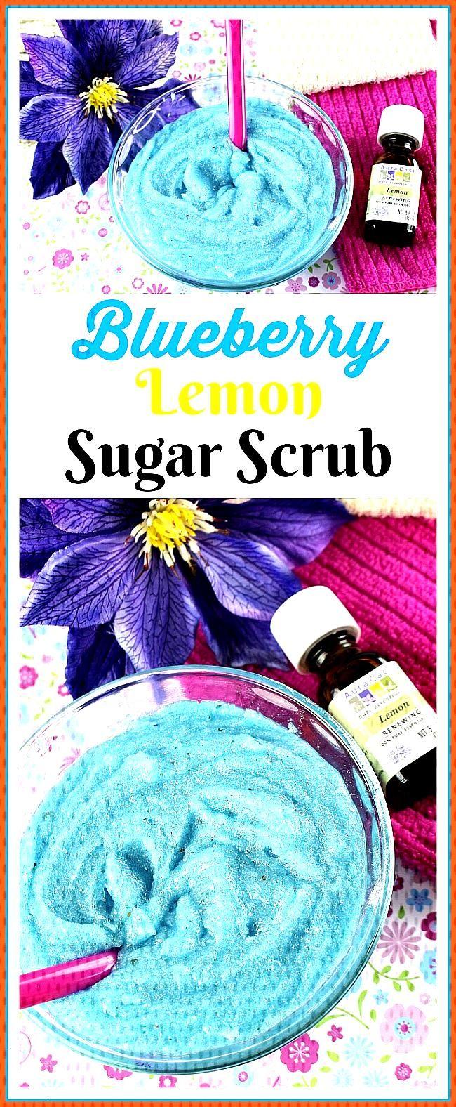 Blueberry Lemon Sugar Scrub- Refreshing DIY Beauty Product Blueberry Lemon Sugar Scrub- You don t h