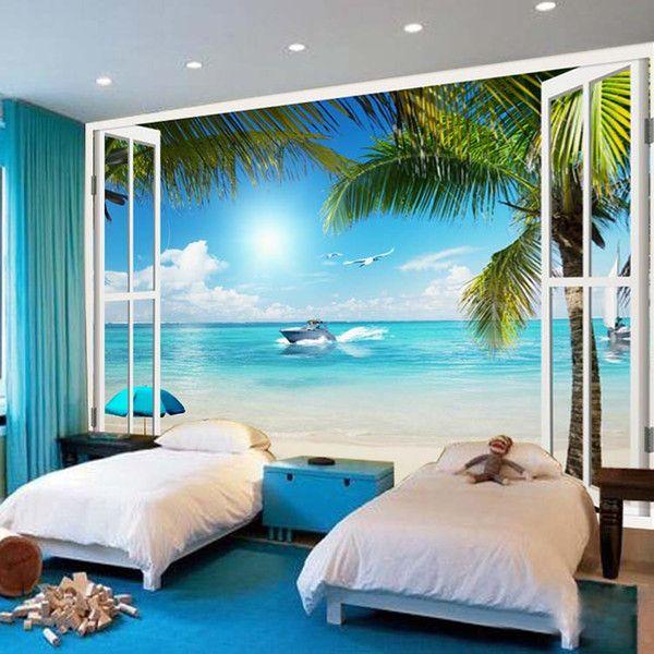 удобнее фотообои для стен в спальню море собой хорошее настроение