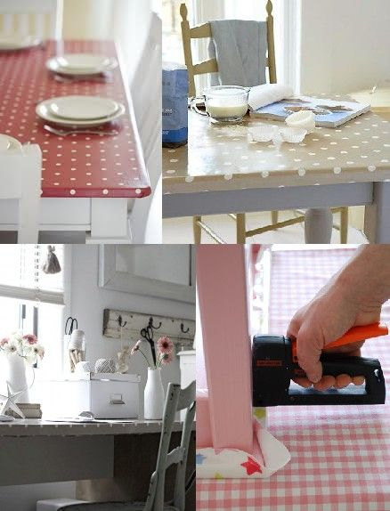DIY - Oilcloth Table Cover | Dining Room | Pinterest | Crafts ...