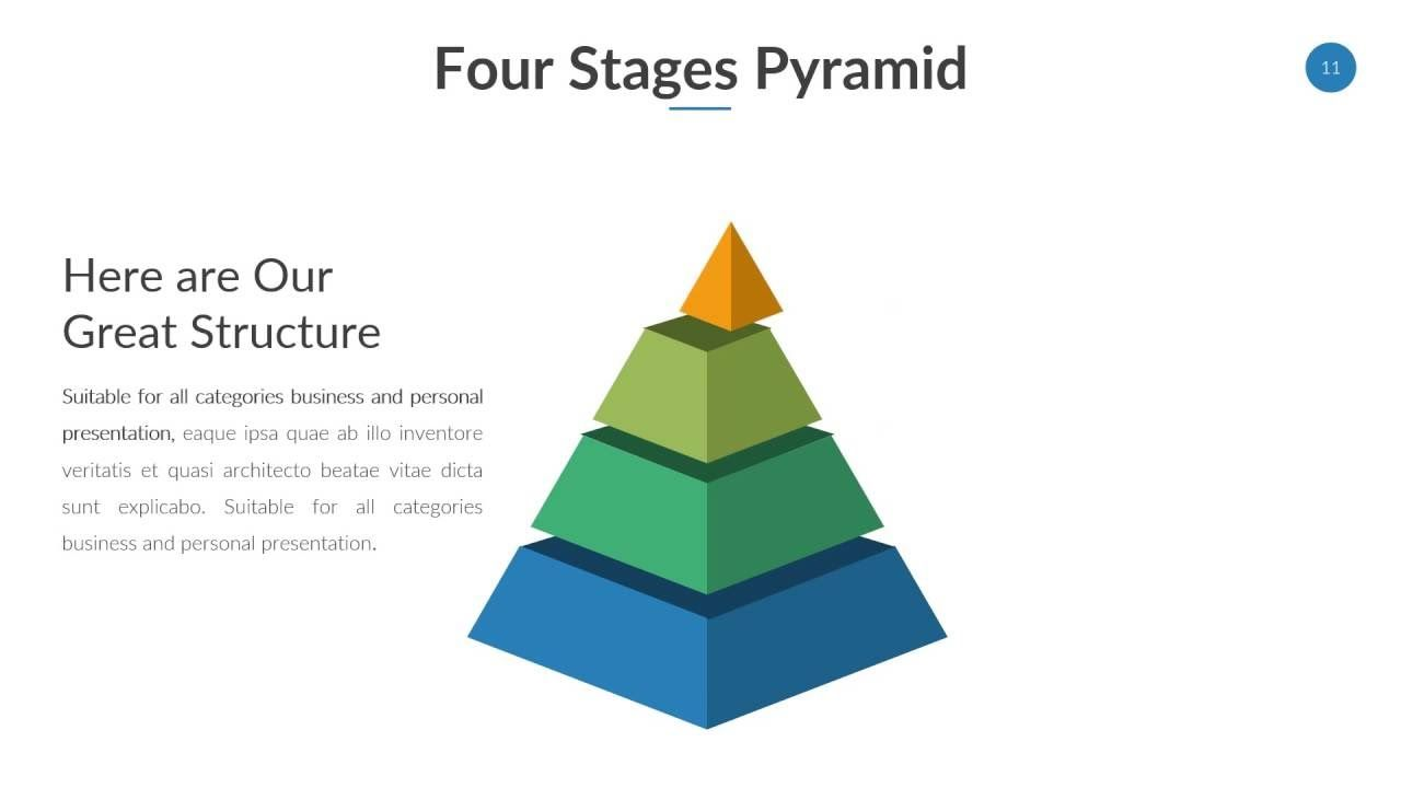 pyramid diagram powerpoint   ppt template   pinterest   watch, Presentation Pyramid Template, Presentation templates