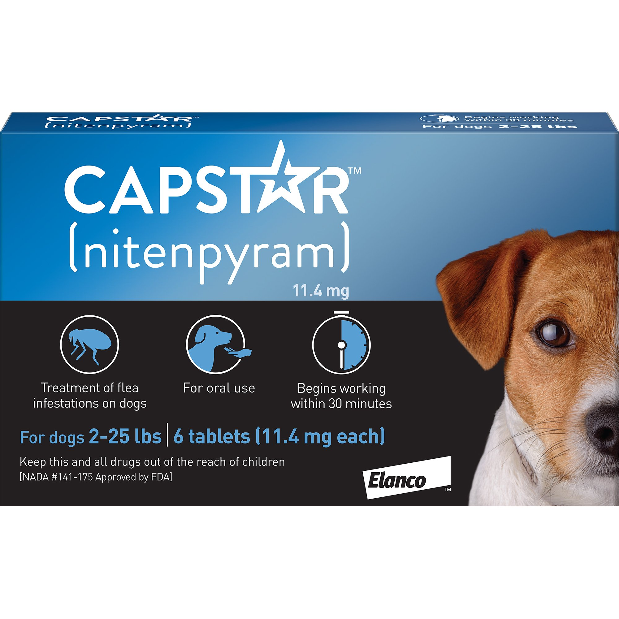 Capstar Flea Tablets For Dogs 2 25 Lbs Count Of 6 Flea Treatment Fleas Dogs