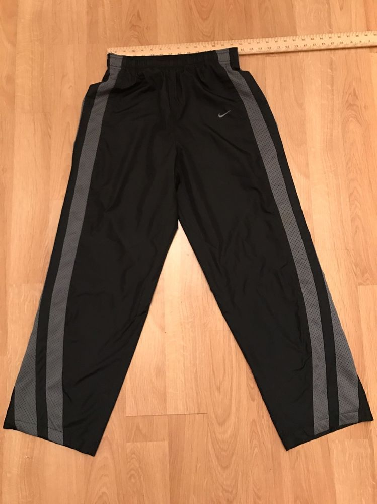 VINTAGE NIKE BLACK JOGGING SWEAT PANTS JERSEY SIZE LARGE RN 56323 CA 05553   Nike  Pants 283d3af812