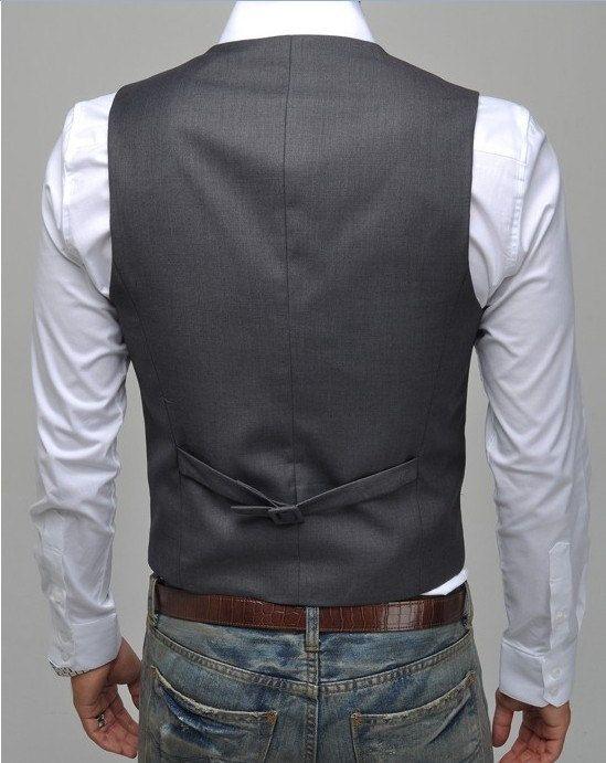 Mode Classic Stylelish Gentleman Herren Weste Maßarbeit