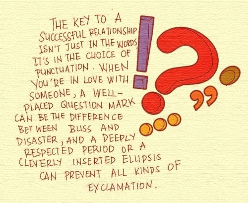 PUNCTUATION (from The Lover's Dictionary by David Levithan ...