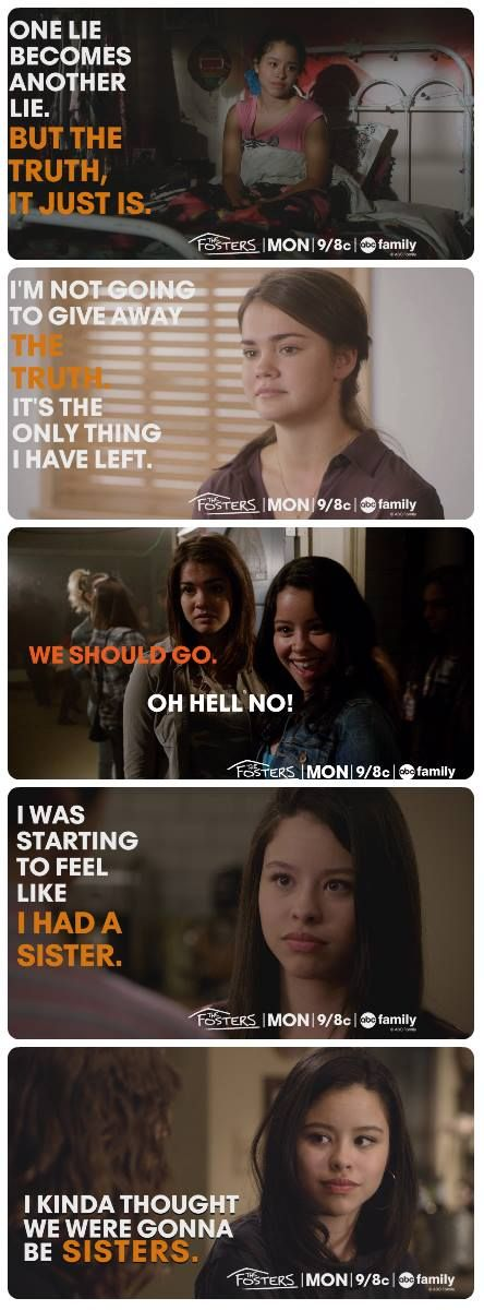 The Fosters quotes -- Mariana and Callie.