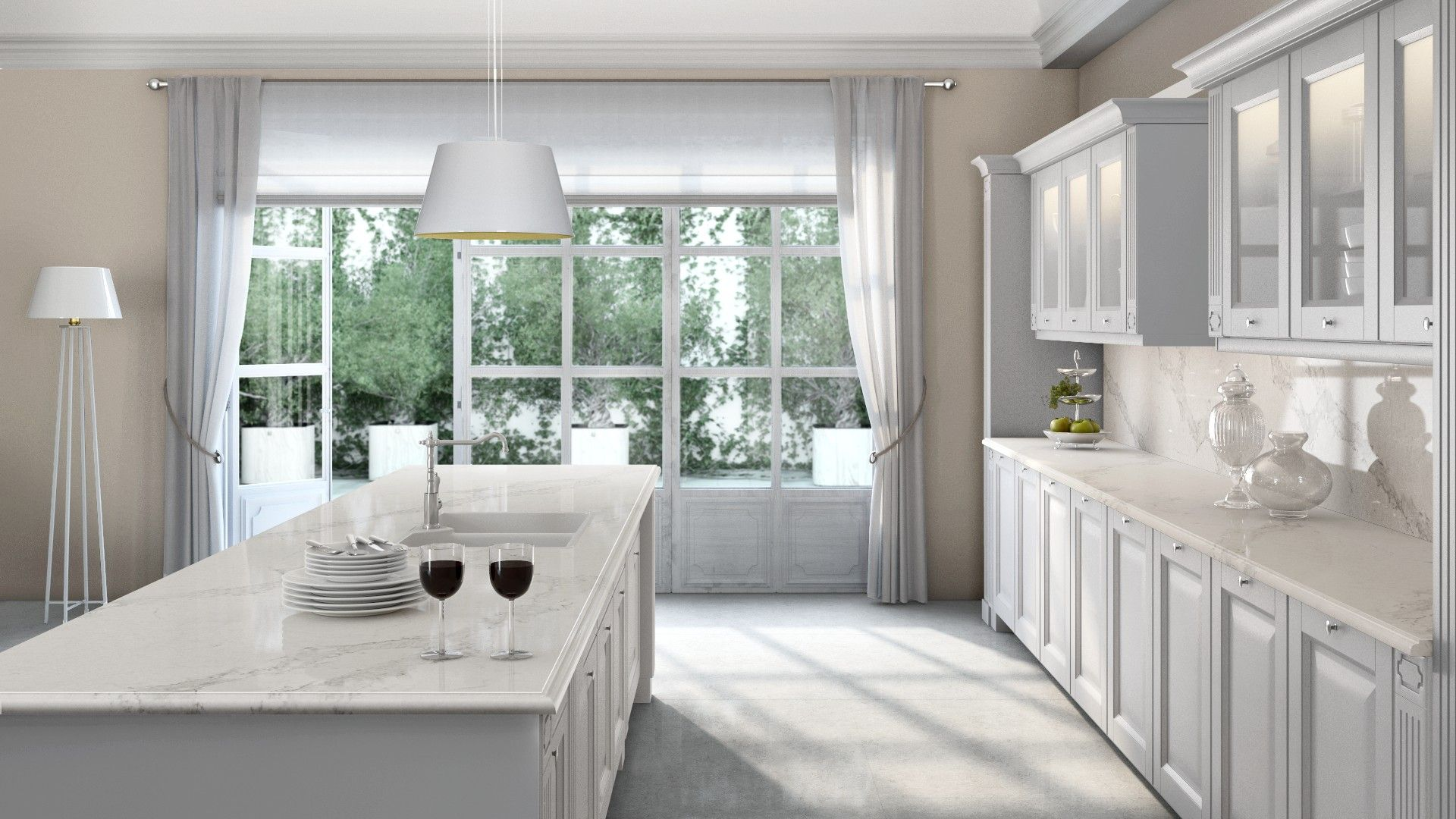Caesarstone Visualizer   This White Kitchen Design Looks Amazing On The  Plans   Can Only Imagine