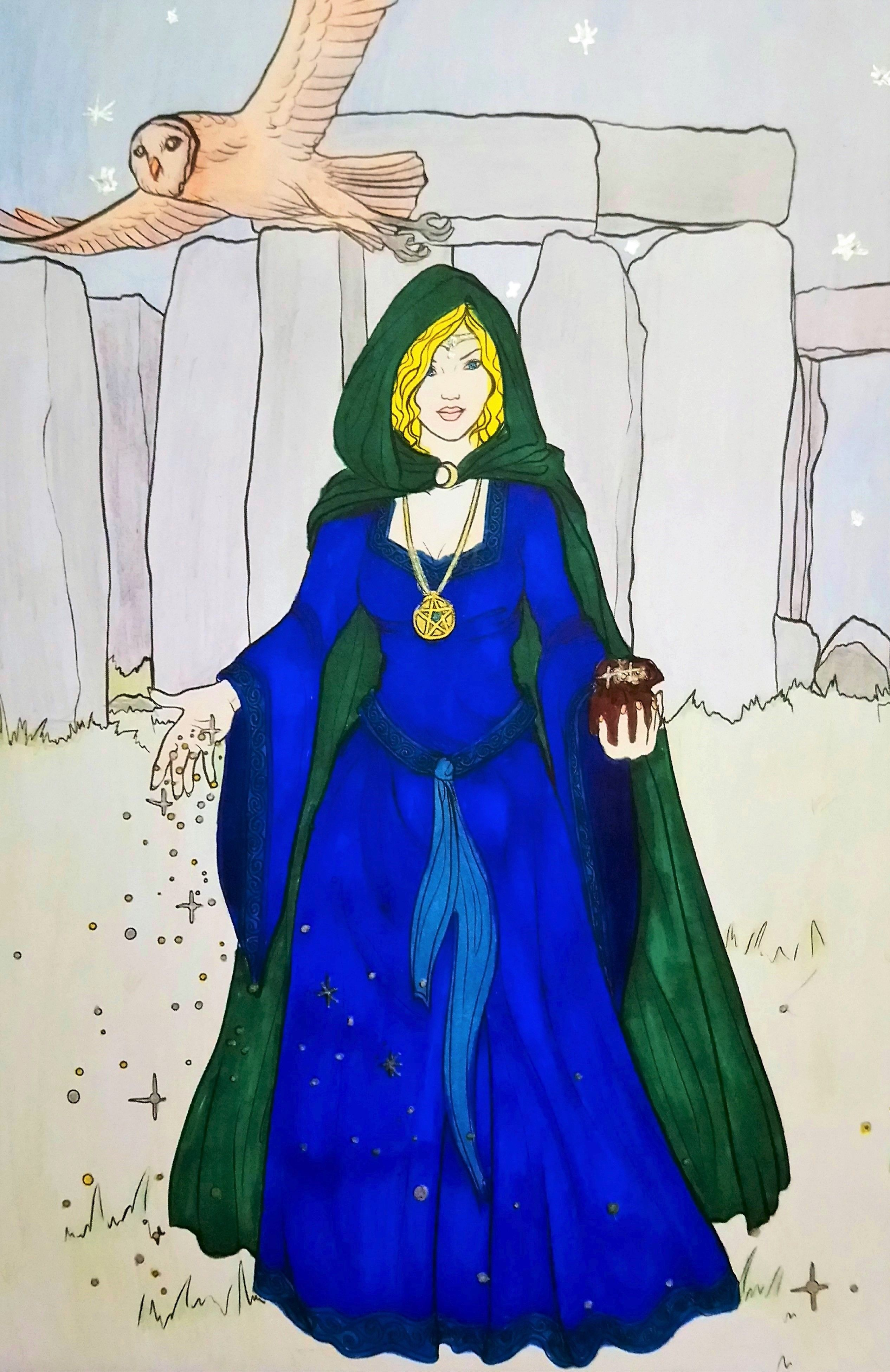 At Stonehenge From Night Magic Gothic And Halloween Coloring Book