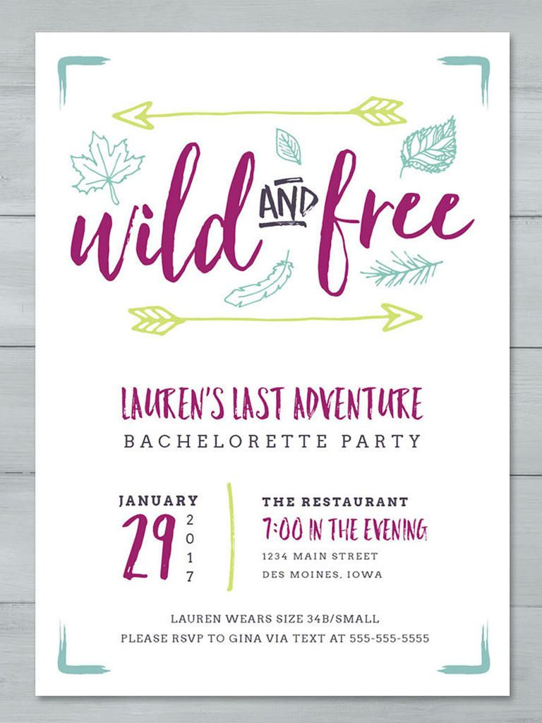 14 Diyable Bachelorette Party Invitation Templates Free Bachelorette Party Invitations Bachelorette Party Invitations Printable Party Invite Template