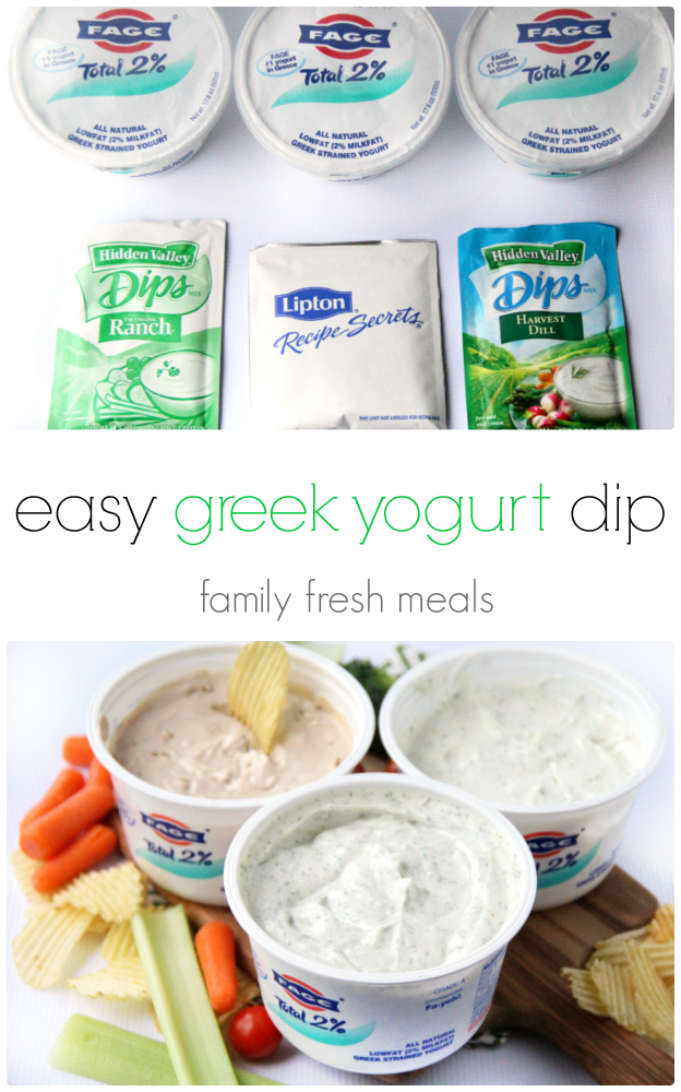 Easy Greek Yogurt Dips  3 Ways
