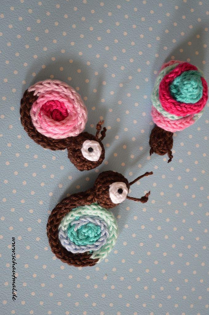 Strckschnecke textiles gestalten pinterest strickliesel schnecke und stricken - Strickliesel selber machen ...