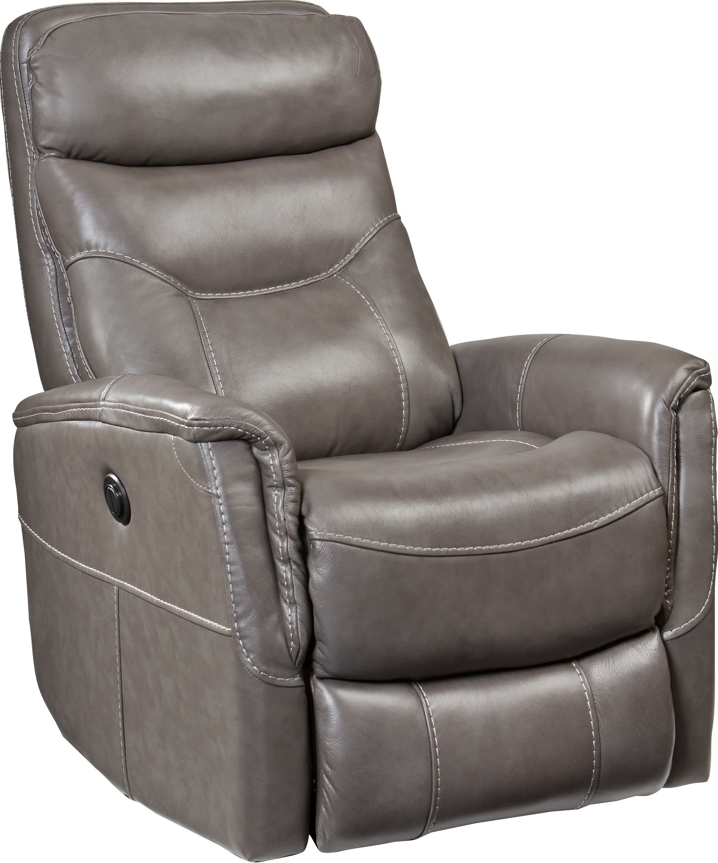Cindy Crawford Home Bello Gray Leather Power Swivel Glider Recliner Swivel Glider Recliner Glider Recliner Recliner