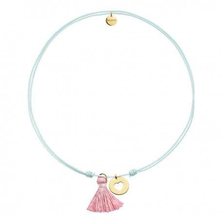 c7a9cb03a06a ¡Descubre las nuevas joyas infantiles de Argyor! Gargantilla Azul Estrella  plata dorada y Pompón