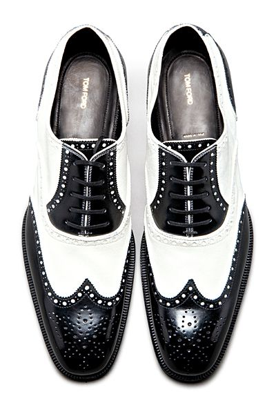 Tom Ford - Shoes black   white wingtips oxfords brogues    again ... 2bec3a081806