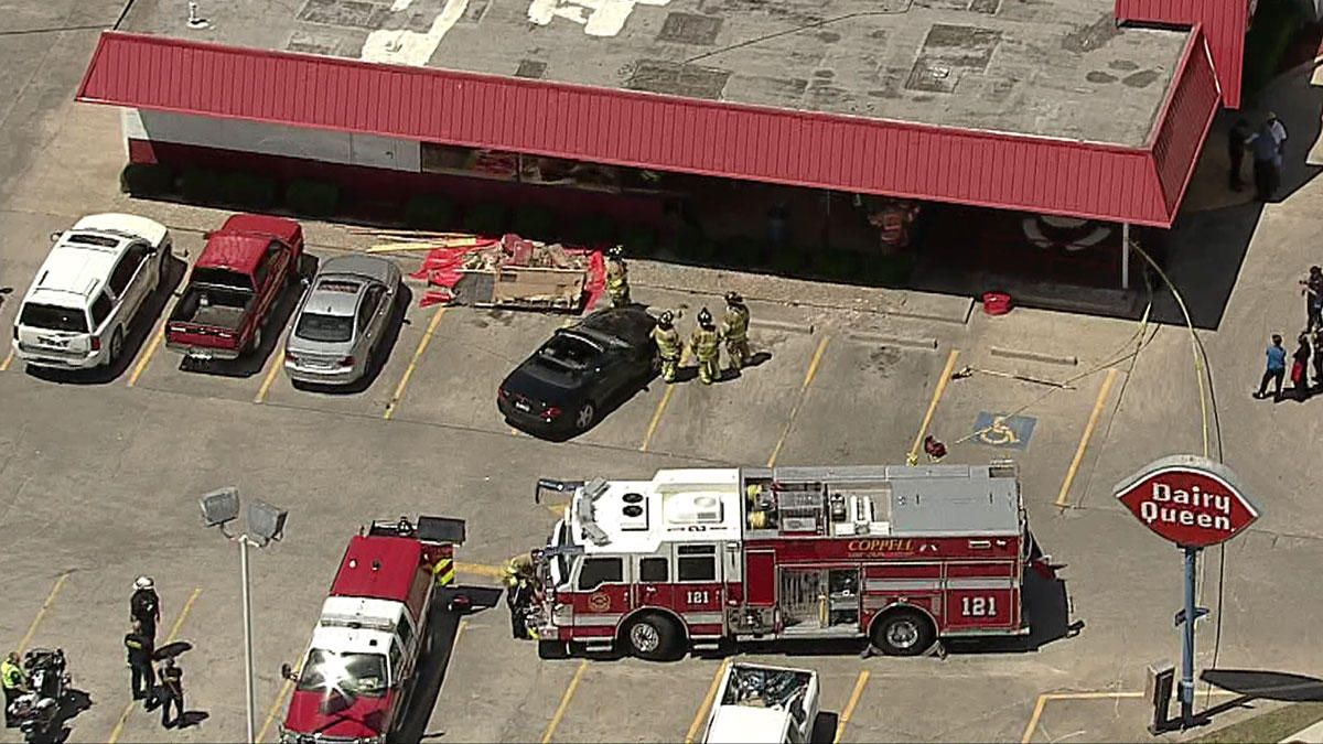 Mercedes Slams Into Dairy Queen in Coppell