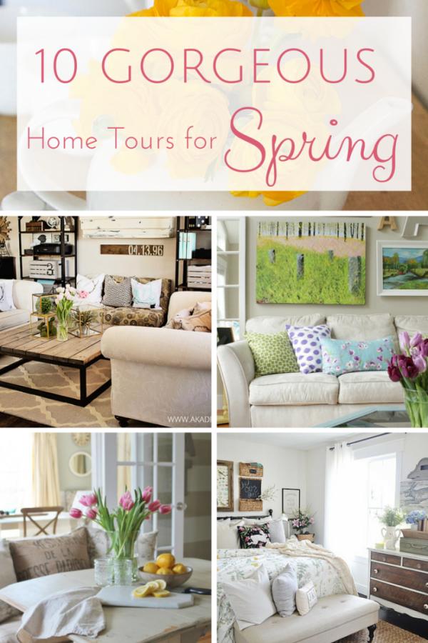 favorite things friday 10 gorgeous spring home tours seasons rh pinterest com