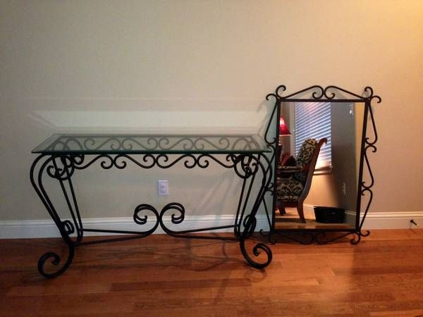 Unique Wrought Iron Hall Table