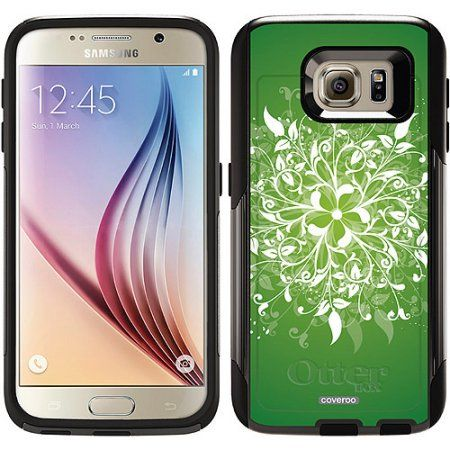 Leafy Bliss Green Design on OtterBox Commuter Series Case for Samsung Galaxy S6