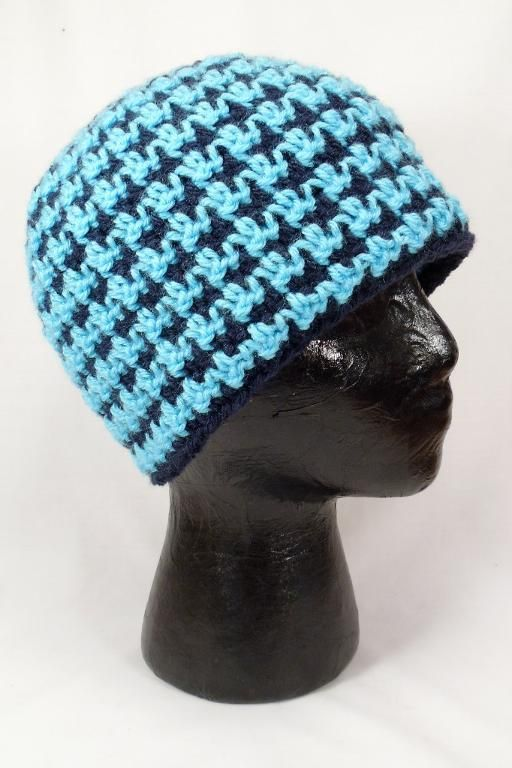 aa1b9ac7109 Looking for crocheting project inspiration  Check out Houndstooth Beanie -  Reversible by member PlayinHooky.