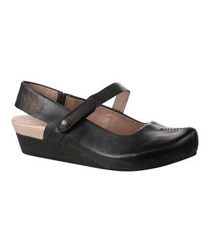 Look what I found on #zulily! Black Springfield Leather Mary Jane Slingback by OTBT #zulilyfinds