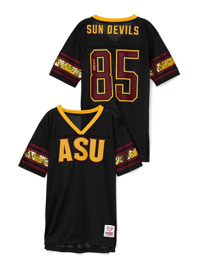 47d1e7a59133 Arizona State University Mesh Bling Boyfriend Jersey - PINK - Victoria s  Secret