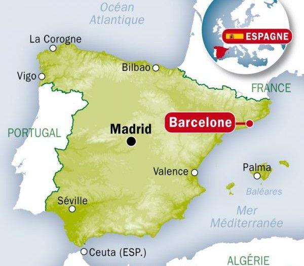 Carte Espagne Barcelone Barcelone Barcelone Carte Espagne