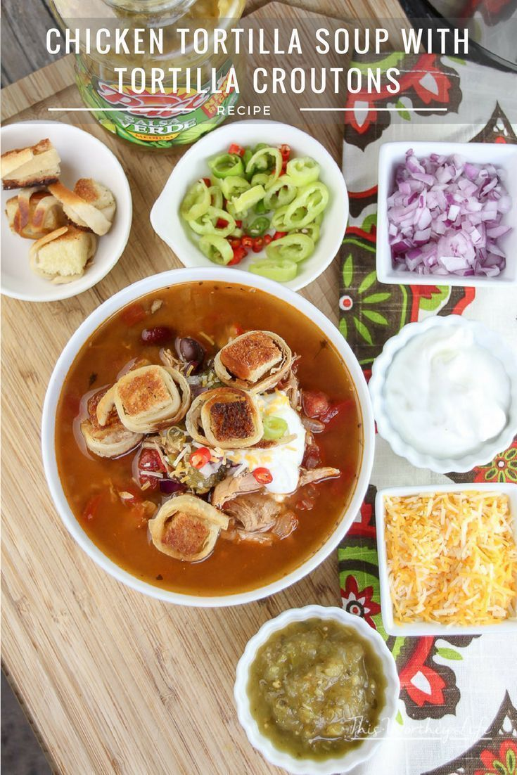 Instant pot recipe chicken tortilla soup with tortilla croutons instant pot recipe chicken tortilla soup with tortilla croutons receta forumfinder Image collections