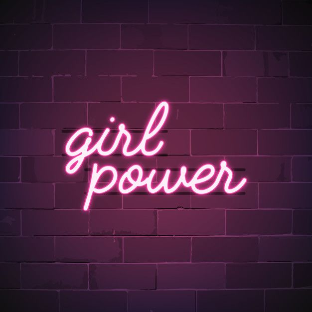 Download Girl Power Neon Sign Vector for free