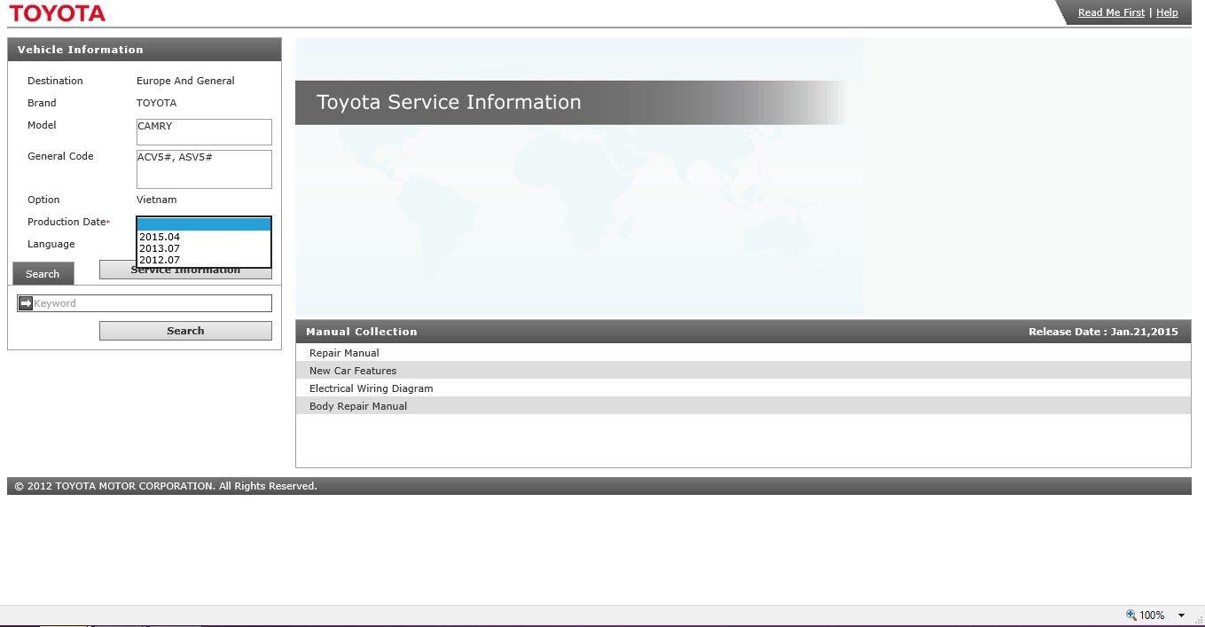 Toyota Toyota Corolla 2016 Service Manual