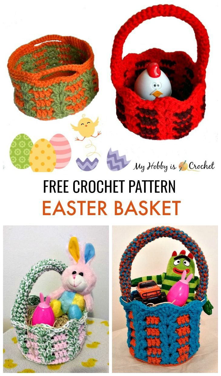 Crochet Basket - Free Crochet Pattern #eastercrochetpatterns