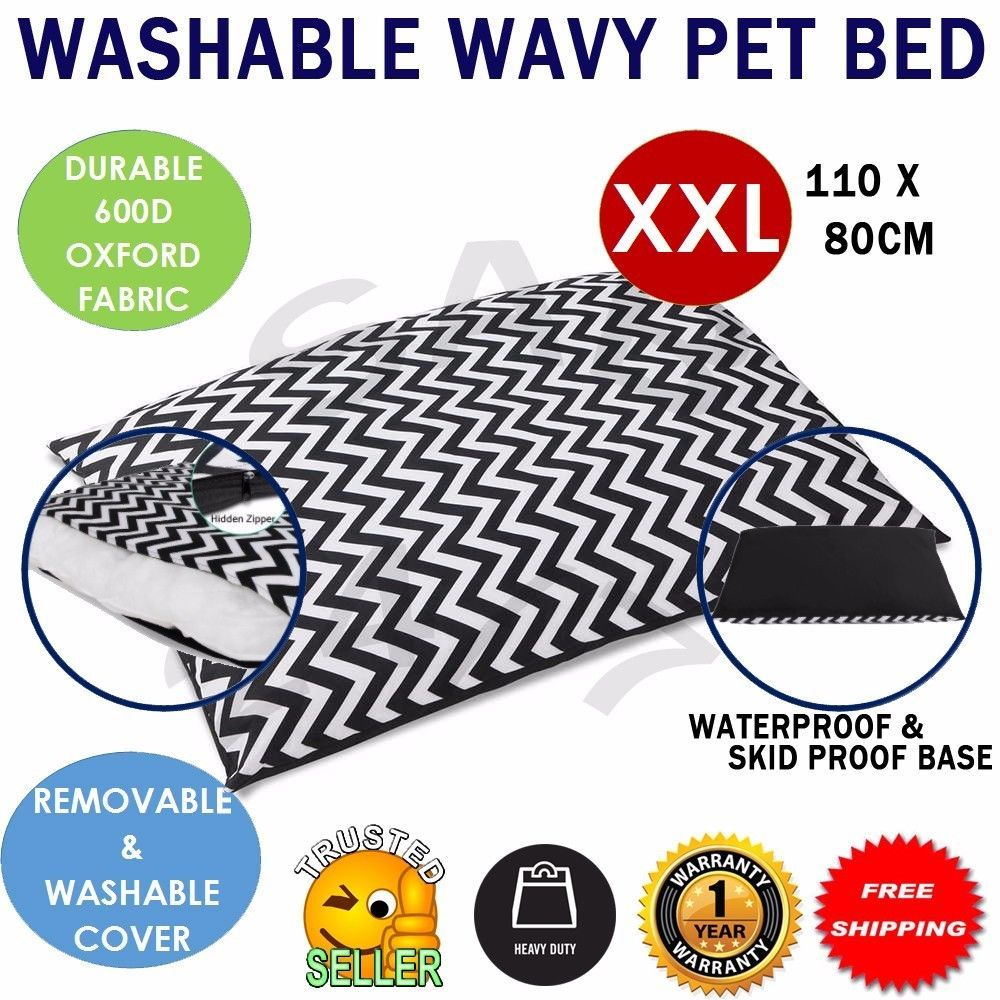 Details about Heavy Duty Washable Pet Bed Cushion Soft Non