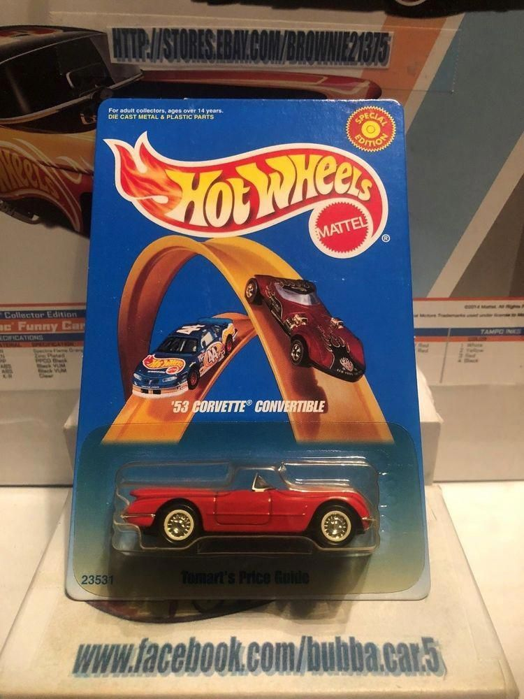 Hot Wheels 53 Corvette Convertible Red 1953 Tomart S Price Guide