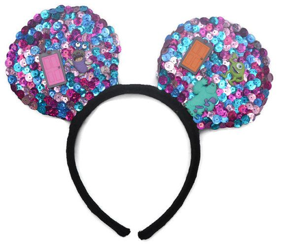 MonstEars Handmade Hand Crafted Sequin Costume Mouse Ears are the perfect pair of mouse ears for toddlers, children, and adults with the one size fits...  #monstersinc #monstersuniversity #disneyworld #disneyland #mouseears #disneyears #disneycosplay #disneyheadband #handcraftedheadband #etsy #childrenscosplay #childrensears #adultsmouseears