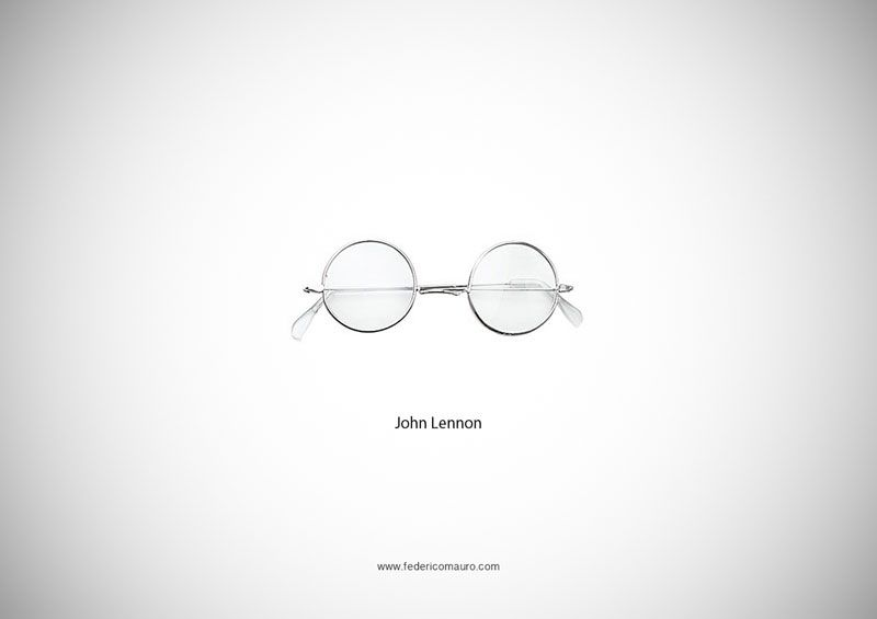 30d5bed0b18f 15 famous glasses of public relations gurus. iconic John Lennon Glasses ...