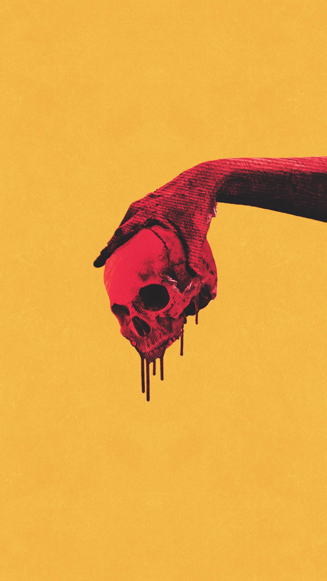 Skulls Wallpaper Yellow