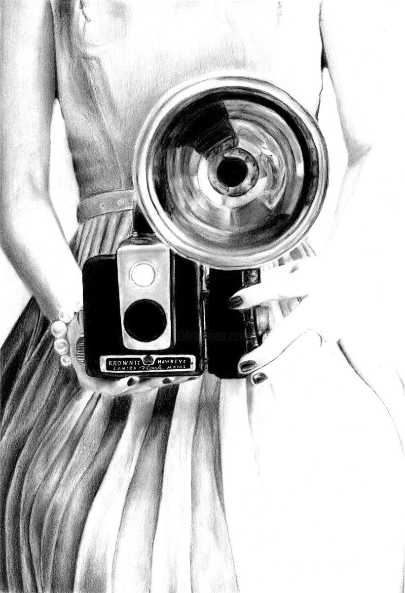 Appareil Photo Vintage Jpg Dessin Par Yonaart Artmajeur Image Noir Et Blanc Photo Noir Et Blanc Photo Noir Et Blanc Paysage