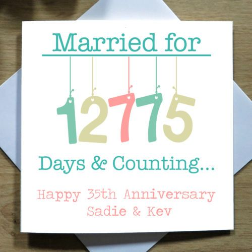 Personalised Handmade 35th Wedding Anniversary Card Coral Thirty Fifth Love Ebay Anniversary Cards Handmade Wedding Anniversary Cards Diy Wedding Anniversary Cards