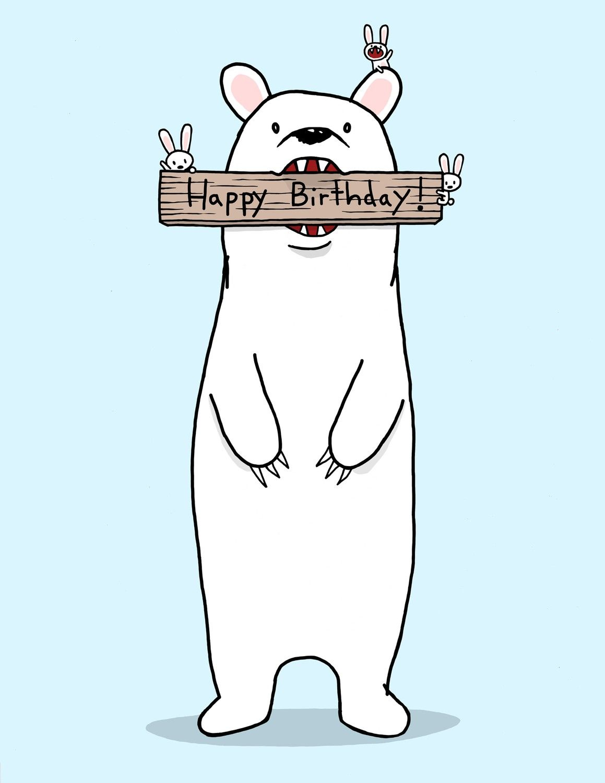 Happy Birthday Bear Card – Birthday Card Bear