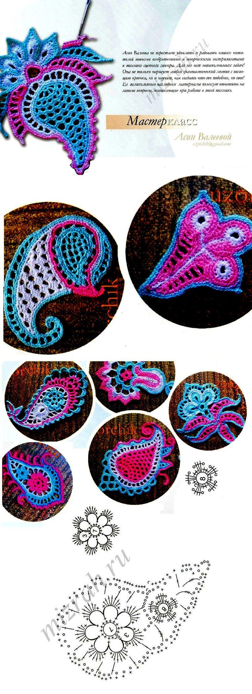 Crochet Paisley Chart Crochet Paisley Pinterest Crochet