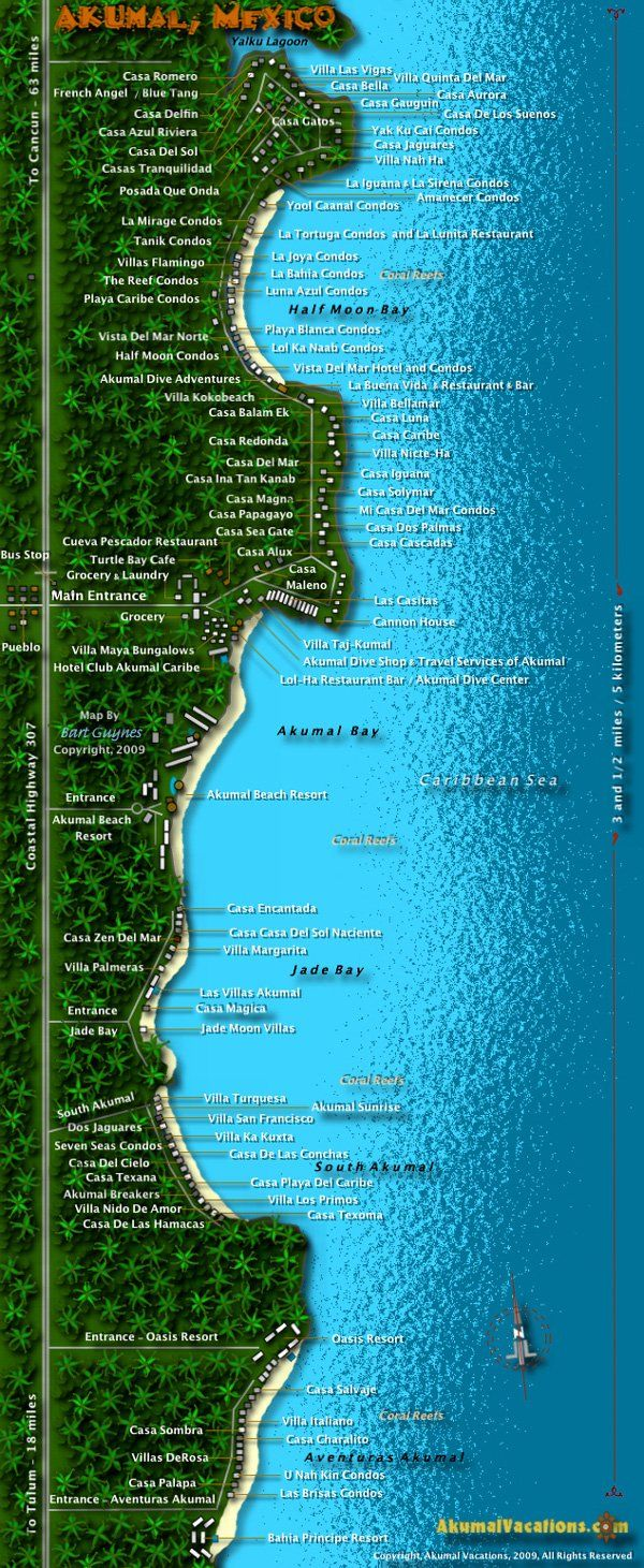Akumal Map, Riviera Maya, Mexico | When I\'m done with nursing school ...