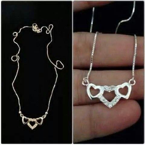 Silver necklaces!